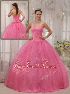 Plus Size Ball Gown Sweetheart Beading Sweet 16 Dresses