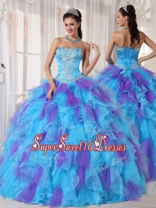 Spring Pretty Ball Gown Beading and Appliques Quinceanera Dresses