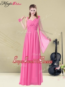New Style Empire Straps Ruching Dama Dresses