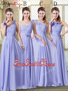 2016 Pretty Empire Floor Length Dama Dresses in Lavender