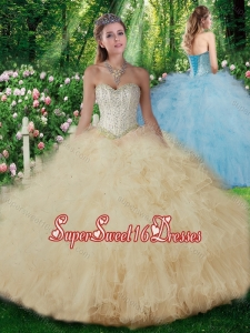 2016 Luxurious Ball Gown Quinceanera Dresses with Beading