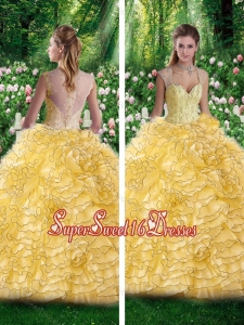 Beautiful Straps Beading Quinceanera Dresses for 16 Brithday Party