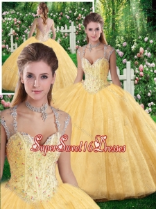 Cheap Ball Gown Beading and Appliques Sweet 16 Dresses