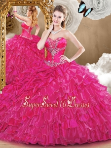 2016 Gorgeous Sweetheart Quinceanera Dresses with Beading and Ruffles