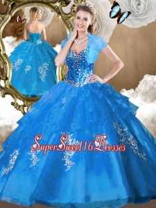 2016 Perfect Ball Gown Sweet 16 Dresses with Beading and Appliques