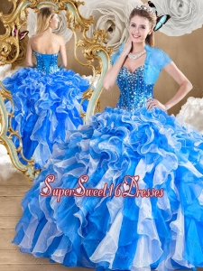 2016 Pretty Multi Color15th Birthday Party Dresses with Ruffles and Beading