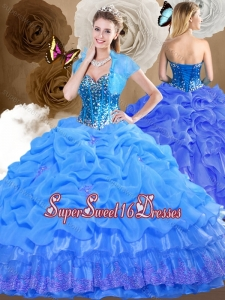 2016 Romantic Sweetheart Quinceanera Dresses with Beading and Pick Ups