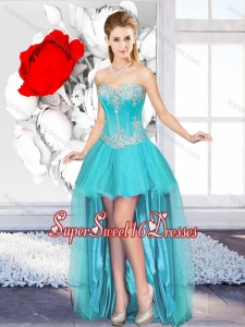 A Line Sweetheart Beautiful Quinceanera Dama Dresses with High Low