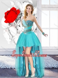 A Line Sweetheart Classical Quinceanera Dama Dresses with Beading