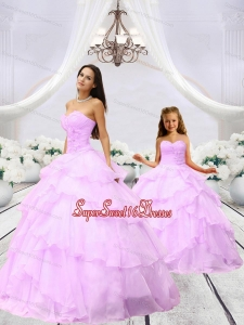 New Arrival Beading and Ruching Pink Princesita Dress for 2015