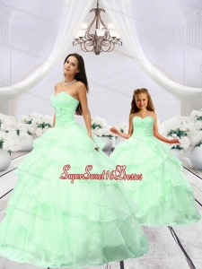 Exclusive Beading and Ruching Princesita Dress in Green for 2015