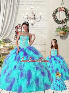 Exquisite Ruffles and Beading Multi-color Princesita Dress for 2015