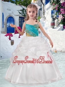 Beautiful Spaghetti Straps Mini Quinceanera Dresses with Appliques and Bubles