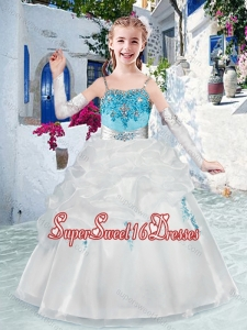 Latest Spaghetti Straps Mini Quinceanera Dresses with Appliques and Bubles