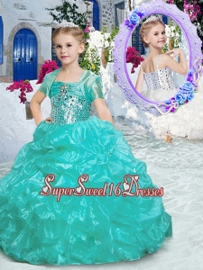 Best Spaghetti Straps Mini Quinceanera Dresses with Beading and Ruffles