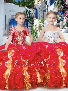 Perfect Ball Gown Mini Quinceanera Dresses with Beading and Ruffles
