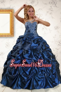 2015 Exclusive Appliques Quinceanera Dresses with Pick Ups