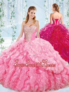 Best Selling Sweetheart 15th Birthday Party Dress with Beaded Bodice and Ruffles