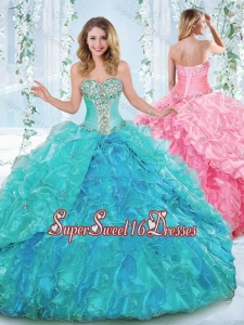 New Arrivals Rhinestoned and Ruffled 15th Birthday Party Dress in Organza