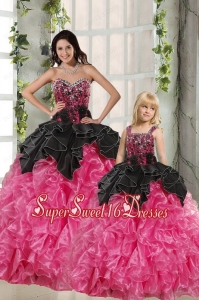 Ball Gown Beading and Ruffles 2015 Princesita Dress in Multi Color