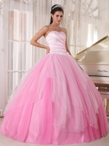 Perfect Pink Sweet 16 Quinceanera Dress Sweetheart Tulle Beading Ball Gown