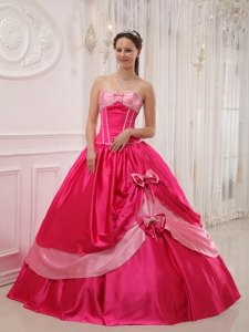 Elegant Coral Red Sweet 16 Dress Sweetheart Satin Appliques with Beading Ball Gown