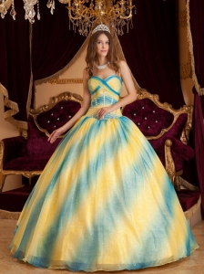 Low price Ombre Color Sweet 16 Dress Sweetheart Beading Organza Ball Gown