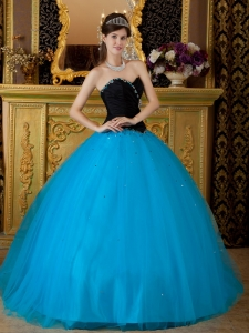 Exquisite Teal Sweet 16 Quinceanera Dress Sweetheart Beading Tulle Ball Gown