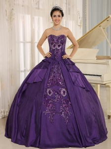 Eggplant Purple Embroidery Sweet 16 Quinceanera Dress With Sweetheart In 2013