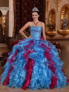 Exclusive Sweet 16 Quinceanera Dress Sweetheart Organza Beading Ball Gown