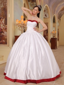 2013 White Sweetheart Floor-length Satin Sweet 16 Quinceanera Dress Lace-up