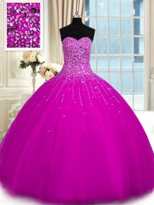 Inexpensive Sleeveless Lace Up Floor Length Beading Sweet 16 Dresses